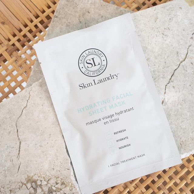 """""""Taking my own advice - putting my feet up and putting a mask on. @skinlaundry hydrating facial sheet mask""""   @outsidexin #maskmonday #sheetmask #skincare"""