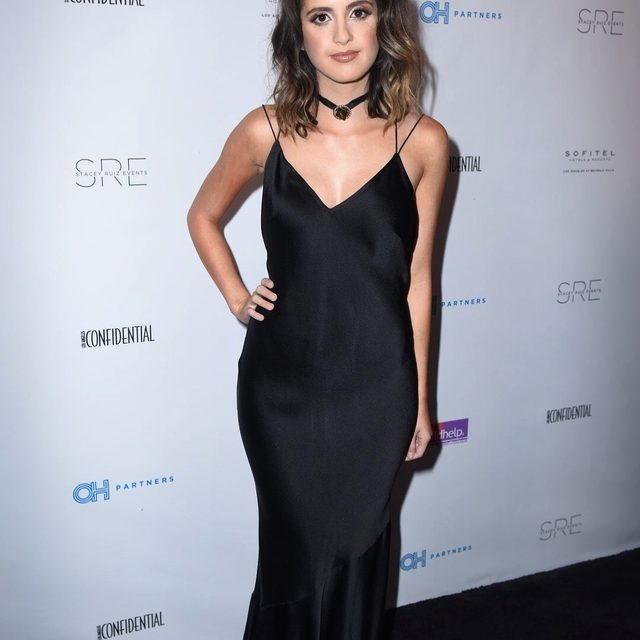 Chic @lauramarano in our Kos slip dress 🖤 | shoppable now at the link in our bio