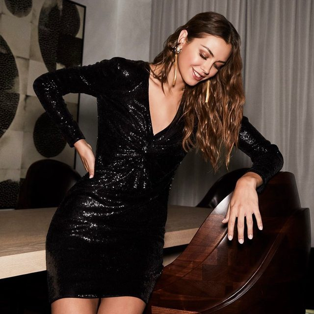 Introducing your go-to LBD for the holiday party circuit | our brand new Lou sequin mini is shoppable now at the link in our bio