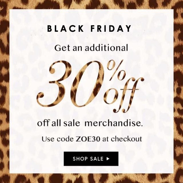 Shop our latest Fall markdowns at an additional 30% off 🙌🏻 | Use code ZOE30 at checkout