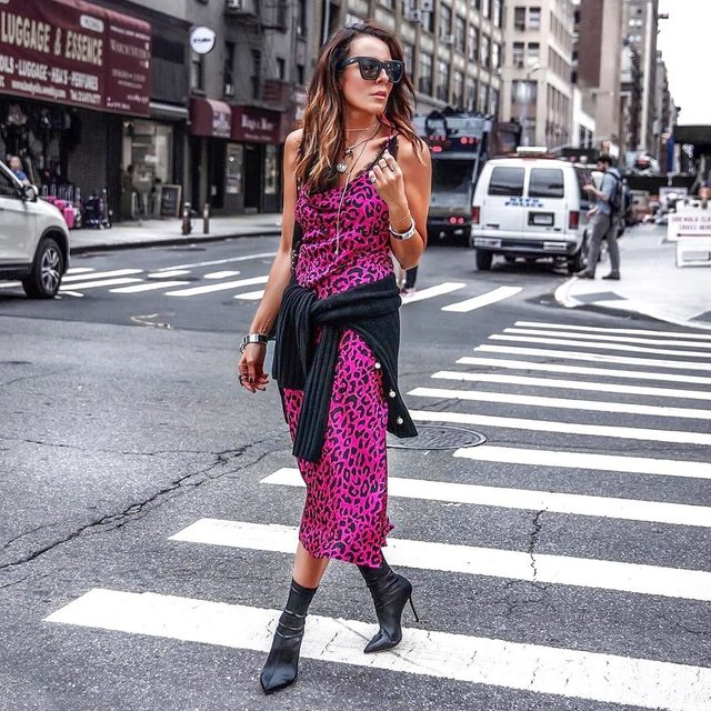 Stepping into the weekend in pink leopard because...WHY NOT? 💖#pink #leopard #madeinNYC