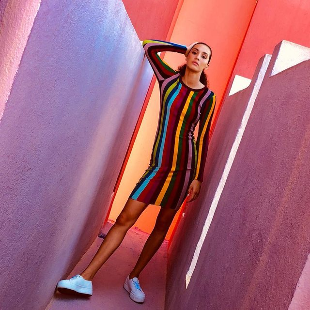 Why choose one color when you can wear them all 🌈#rainbow #colorlover #millymoment