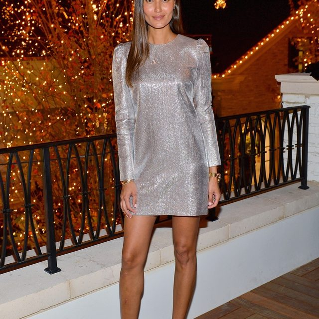 The perfect metallic mini on @annemkortright | the Millie is shoppable now at the link in our bio