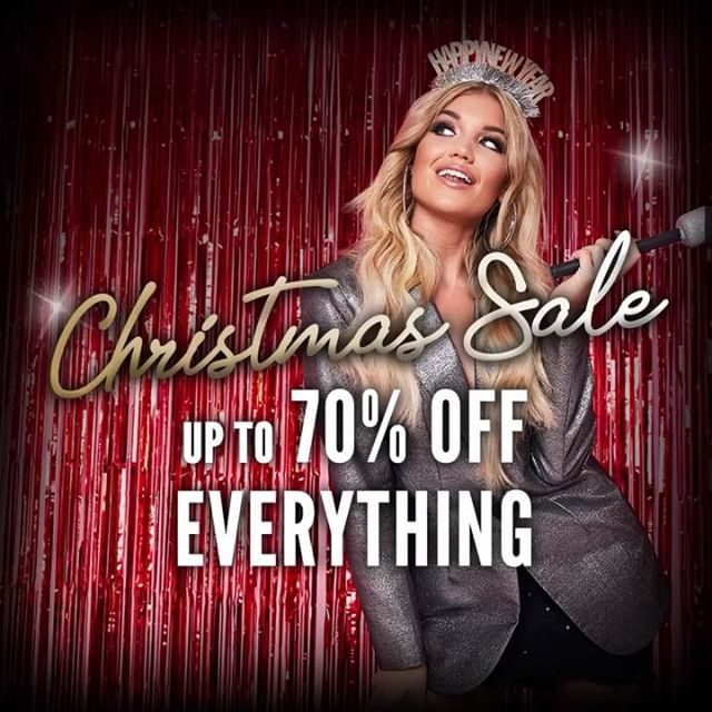 LETS GET FESTIVE AF, BABES ✨✨✨ Now up to 70% off EVERYTHING • GO GO GO 💕💕