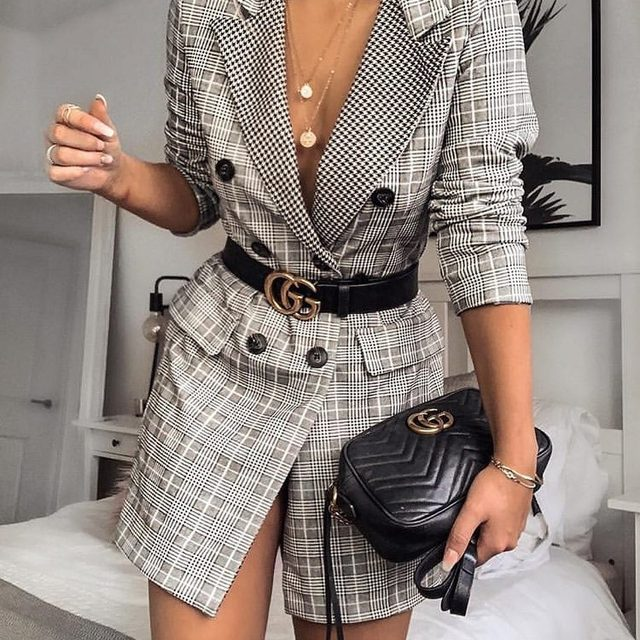 New outfit? CHECK ✔️ Tap to shop @kayleighjcouture's blazer dress. #BOOHOObabes