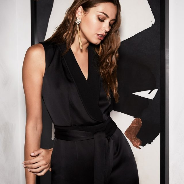 A feminine reinvention of the classic menswear suit | introducing our Odin tux jumpsuit shoppable now at the link in our bio